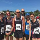 Honiton Running Club members at the Charmouth Challenge