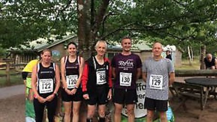 Honiton runners at the Forest Flyer meeting. Picture CONTRIBUTED