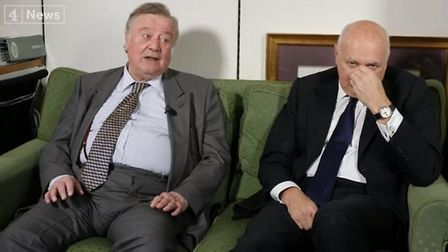 Ken Clarke and Iain Duncan-Smith appears on Channel 4 News. Photograph: Channel 4.