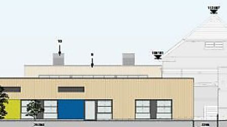 Drawings of the new classroom at Honiton Primary School. Photo: Devon County Council