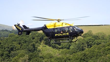 The police helicopter was involved in the search on Sunday evening.