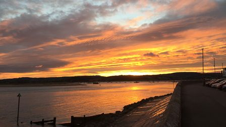 Beautiful October afternoon sunset on the Exe Estuary. Picture: Ruth Murray