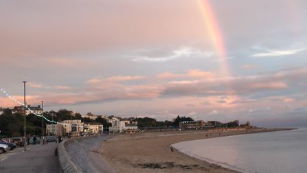 October afternoon rainbow over Exmouth. Picture: Ruth Murray