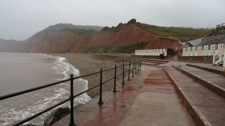 I was along Sidmouth, on Monday 15th October 2018, walking along as far as Jaoob's Ladder, up to Con
