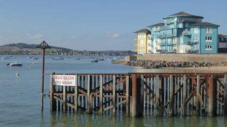 Views of the Exe Estuary, Exmouth Docks and apartments. Picture: Gilly Harris