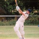 Cameron Kidd puts bat to ball for his club Whiomple. Picture WHIMPLE CC