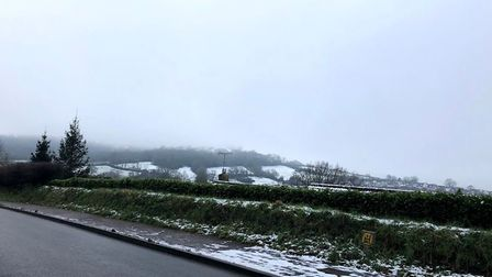 Honiton has received a dusting of snow. Picture: Lydia Catling.