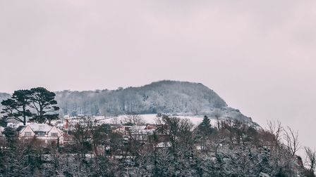 Snowy cliffs of Salcombe Hill. Picture: Charlotte Barsby