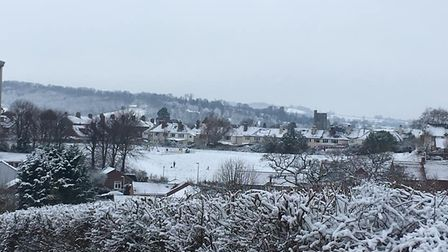 Axminster in the snow. Picture: Angela Skilton