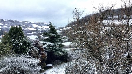 Branscombe snow scene, taken from my cottage. Picture: Gabi Innocent