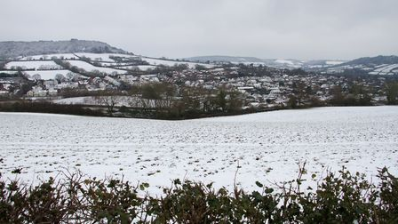 Snowy scenes in and arond Sidmouth. Ref shs 05 19TI 9006. Picture: Terry Ife