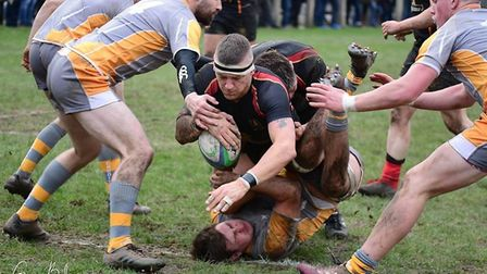 Chard 1st XV rugby action from the Western Counties (W) meeting with Chard. Picture GARY BIDE