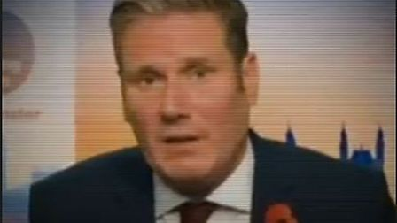 A still from the Conseratives' video of Kier Starmer being interviewed on Good Morning Britain. Pict