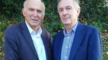 Dr John Timperley with Lib Dem leader Vince Cable. Picture: Lib Dems