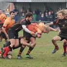 Action from the Chard win over Saltash. Picture GARY BIDE