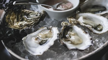 Locally caught oysters at Locanda on the Weir. Picture: Daniel Wildey