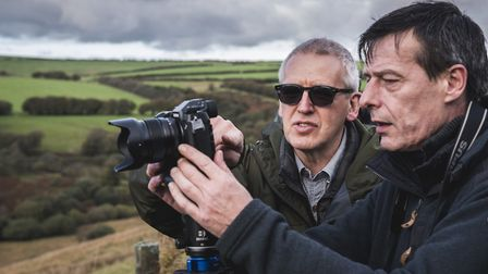 Photography instruction with Peter Hendrie. Picture: Daniel Wildey