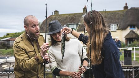 Fishing and dining at Locanda on the Weir. Picture: Daniel Wildey