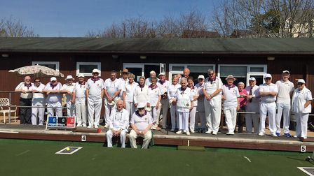 Axminster bowlers at the start of the 2019 outdoor bowling season. There are fears that it could be