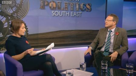 Timothy Vince claimed the EU was founded on the exploitation of women in the interview. Photo: BBC