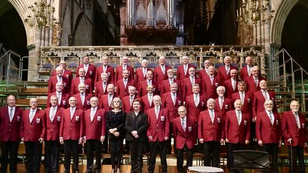 Budleigh Male Voice Choir in Exeter Cathedral. Picture: Karala Fisher-Hart