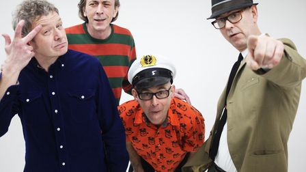 Acid jazz band Corduroy, 'The Fabric Four'. Picture: Supplied by band