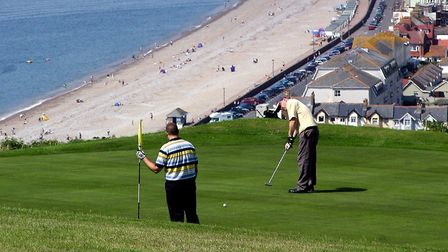 A view of Seaton from Axe Cliff Golf Club. Picture: Terry Ife