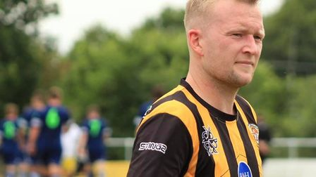 Axminster Town's summer signing from Bridport Town, striker Richard Hebditch. Picture AXMINSTER TOWN