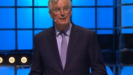Michel Barnier speaks at the Web Summit. Photograph: YouTube.