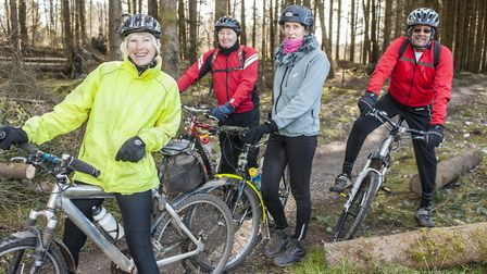 Cycling in Haldon Forest.  Image: Simon Stuart-Miller Photography