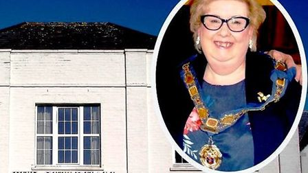 Axminster Mayor Anni Young hopes more residents will attend coiuncil meetings at The Guildhall. Pict