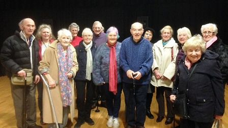 Honiton carers at the film showing are (L/R) are Martin and Christine Wallis, Ann Mitchell, Christin