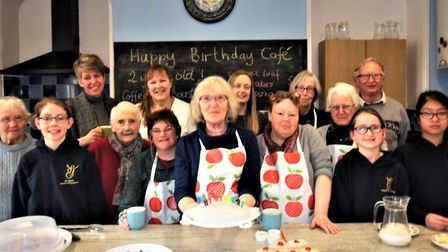 Celebrating the second anniversary of Axminster Community Cafe. Picture: Chris Carson