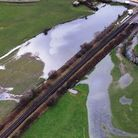 Flooding has posed a risk ro rail lines across Devon. Picture: SWR