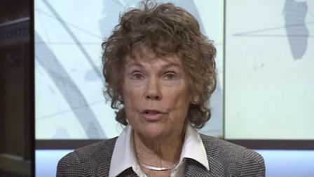 Kate Hoey appears on BBC News. Photograph: BBC.