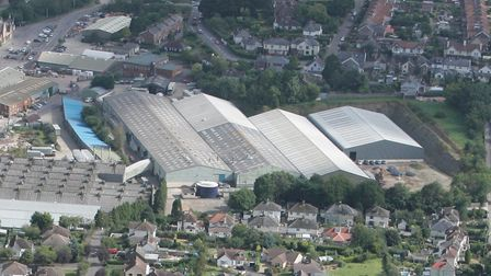 The Axminsterr Carpets factory from the air. Picture: Simon Burchett Channel Photography