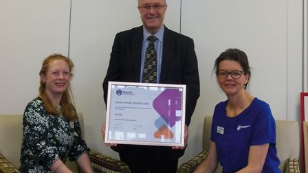 Kings House Day Hospice in Honiton has benefitted from a £1,000 donation from the Freemasons. Pictur