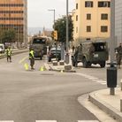 Spanish troops are patrolling Palma, in Mallorca, to ensure people stay at home during the coronavir
