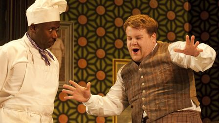 A scene from One Man Two Guvnors.Picture Johan Persson