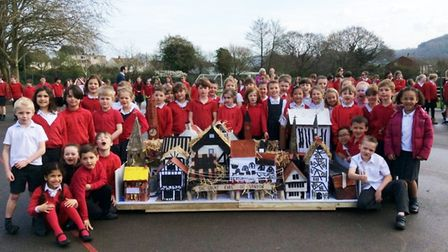 As part of their history work pupils studied the Great Fire of London, building a model of the area