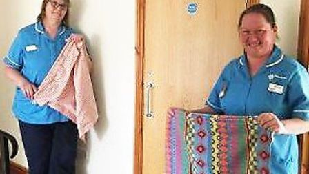 Two Hospiscare@Home nurses with their laundry bags. Picture AV
