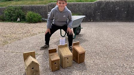 Charlie Foxwell who built birdboxes to raise money for the NHS. Picture: Graham Barton