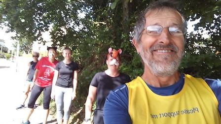 Bob Carter who ran the route with four members of Axe Valley Runners Picture: Honiton Cats Protectio