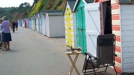 Colourful beach huts on Seaton's West Walk. Picture EDDC