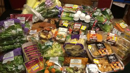 A typical day's collection from just one local Seaton shop. Picture: SAVE Food Hub