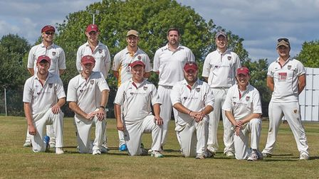 Seaton Cricket Club 1st XI ahead of their Devon League Tier One Premier East meeting with Budleigh S