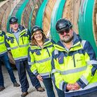 Jurassic Fibre CEO and founder Michael Maltby, SHEQ manager Gillian Huppler, construction project manager Craig Vickers and d...