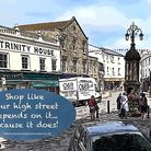 'Support your high street' urges Totally Locally Axminster. Picture Barrie Hedges