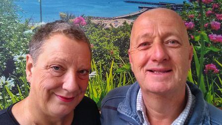 Karen Ball and husband Nigel. Picture supplied