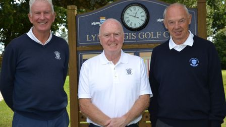 The winners of the Flamingo Pool golf contest Roger Turner, Ray Shiners and Keith Gibson. Picture FP